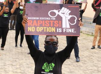 Photo taken during ActionAid Nigeria Women Lives Matter Rally in Abuja, June 2020.